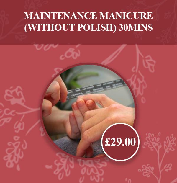 Maintenance Manicure (without polish) 30mins v2